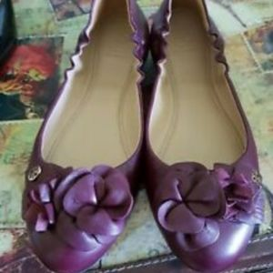 tory burch mulled wine flats